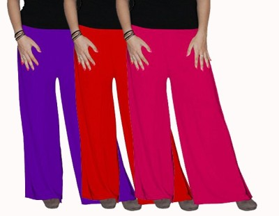 Ace Regular Fit Women's Red, Pink, Purple Trousers