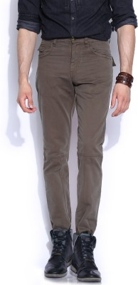 Roadster Slim Fit Men's Grey Trousers