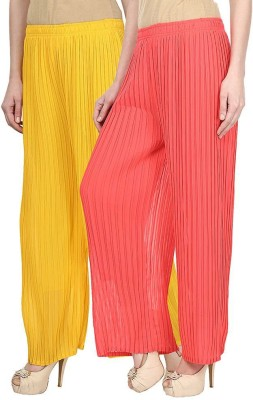 Skyline Trading Regular Fit Women's Yellow, Pink Trousers