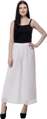 Selfie Regular Fit Women's White Trousers