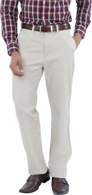 Canoe Slim Fit Men's White Trousers