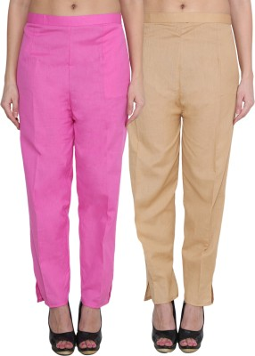 NumBrave Regular Fit Women's Pink, Gold Trousers