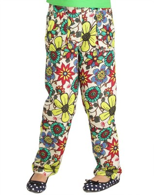 Ventra Regular Fit Girl's Multicolor Trousers