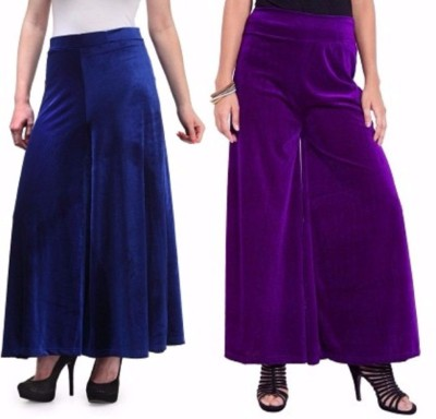 Viba London Regular Fit Women's Blue, Purple Trousers