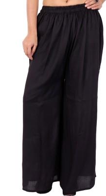 In-Trend Regular Fit Women's Black Trousers
