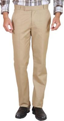 Elfried Slim Fit Men's Brown Trousers