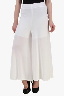 Modattire Regular Fit Women's White Trousers