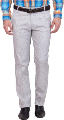 Tiger Grid Slim Fit Men's Grey Trousers