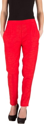 Castle Regular Fit Women's Red Trousers
