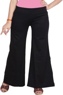 adorz wears Regular Fit Women's Black Trousers