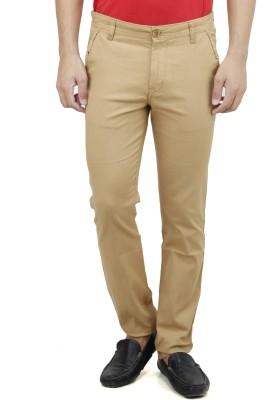 Savon Slim Fit Men,s Brown Trousers
