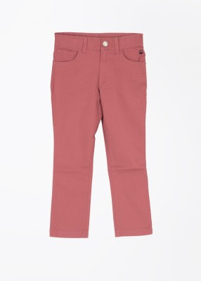 United Colors of Benetton Slim Fit Baby Boy's Pink Trousers