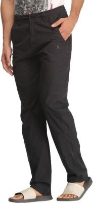 Bornfree Regular Fit Men's Black Trousers