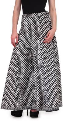 Auraori Slim Fit Women's Black, White Trousers