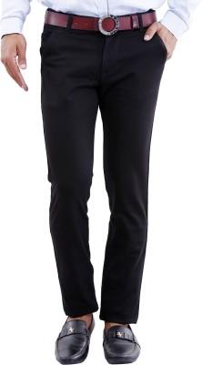 Crocks Club Regular Fit Men's Black Trousers
