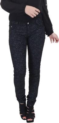 Jheel Slim Fit Women's Black Trousers