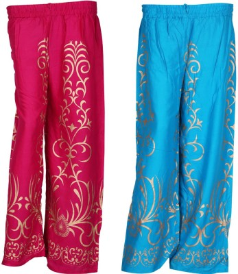 SAANKHYA Regular Fit Women's Pink, Blue Trousers