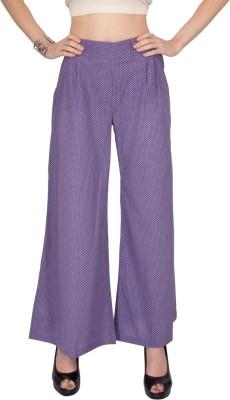 Kaxiaa Regular Fit Women's Purple Trousers