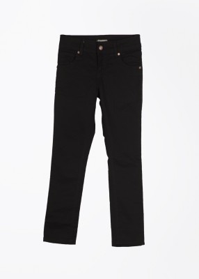 Gini & Jony Slim Fit Girl's Black Trousers