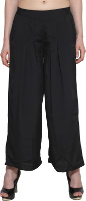 Aurelia Regular Fit Women's Black Trousers