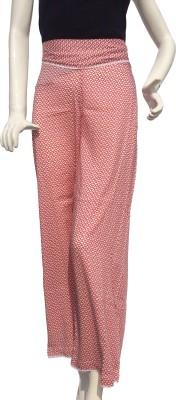 Jupi Regular Fit Women,s Red, White Trousers