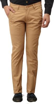 Stylz Regular Fit Men's Beige Trousers