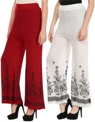Haniya Regular Fit Womens Red, White Trousers