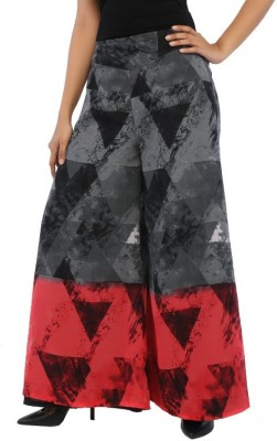 Rigoglioso Regular Fit Women's Grey, Red Trousers