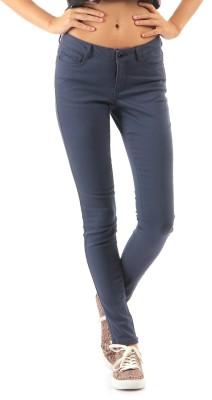 Vero Moda Regular Fit Women's Blue Trousers at flipkart