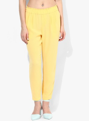 Vero Moda Regular Fit Women's Yellow Trousers