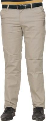 Arcone Skinny Fit Men's Cream Trousers