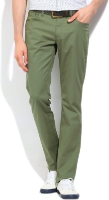 Nautica Slim Fit Men's Green Trousers