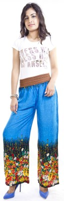 Cotton Flake Regular Fit Women's Blue Trousers