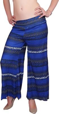 DAMEN MODE Regular Fit Women's Blue Trousers