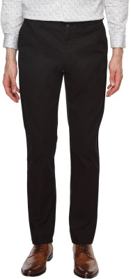 Arrow Sports Slim Fit Men's Black Trousers