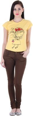 SLS Slim Fit Women's Brown Jeans