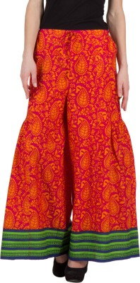 Famous by Payal Kapoor Regular Fit Women's Multicolor Trousers at flipkart