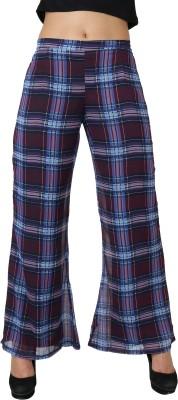 Uptowngaleria Regular Fit Women's Blue Trousers