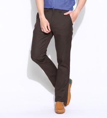 Jogur Slim Fit Men's Brown Trousers