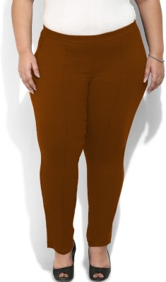 Amydus Regular Fit Women's Brown Trousers