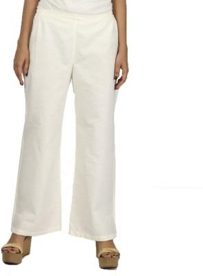 Vedic Regular Fit Women's Cream Trousers