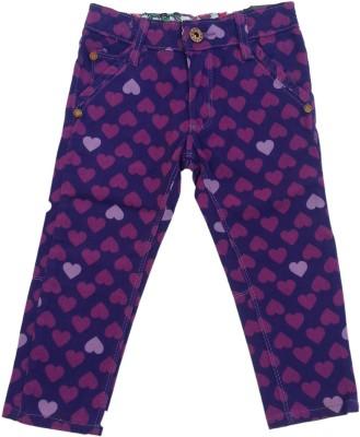 Kuddle Kid Regular Fit Girl's Purple Trousers