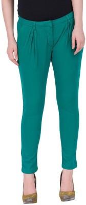 Amari West By INMARK Slim Fit Women's Green Trousers
