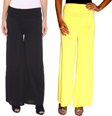 Zadine Regular Fit Women,s Black, Yellow Trousers