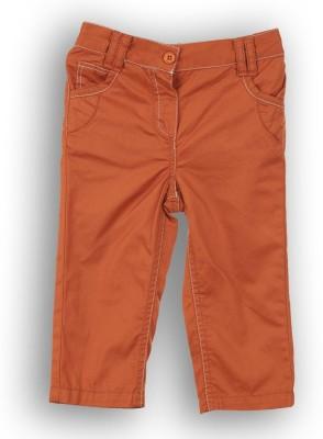 Lilliput Regular Fit Girl's Orange Trousers