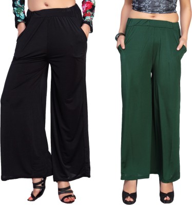 Comix Regular Fit Womens Black, Green Trousers