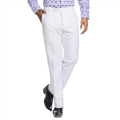 Adam In Style Regular Fit Men's White Trousers