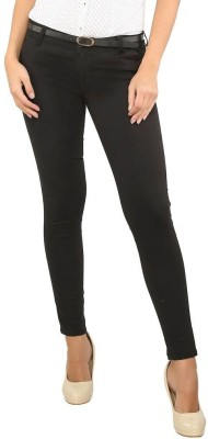 Recap Skinny Fit Women's Black Trousers