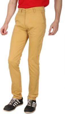 Crocks Club Regular Fit Men's Yellow Trousers