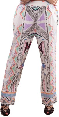 MinkPink Regular Fit Women's Multicolor Trousers